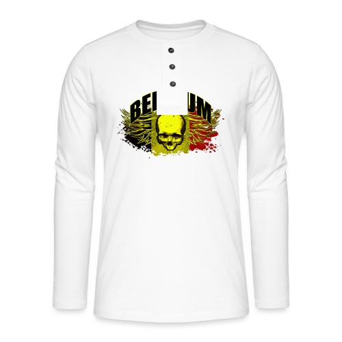 Belgium Devil - Henley shirt met lange mouwen