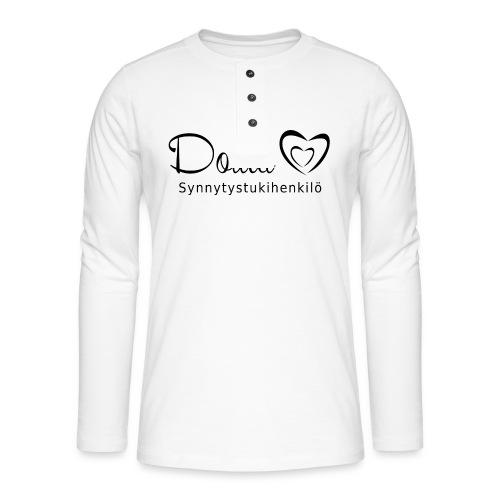 doula sydämet synnytystukihenkilö - Henley pitkähihainen paita