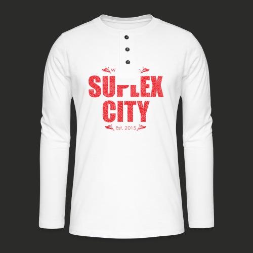 Suplex City Mens T-Shirt - Henley long-sleeved shirt