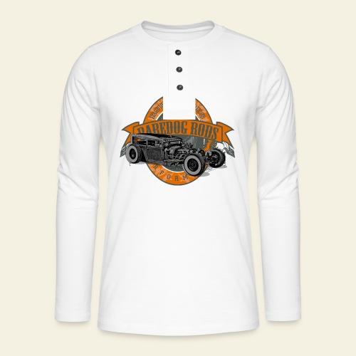 Raredog Rods Logo - Henley T-shirt med lange ærmer