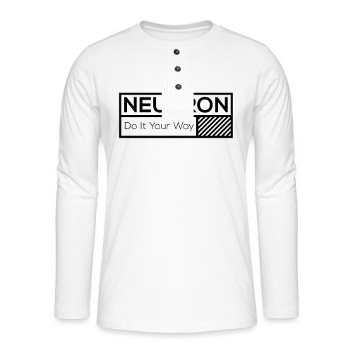 Neutron Vintage-Label - Henley Langarmshirt