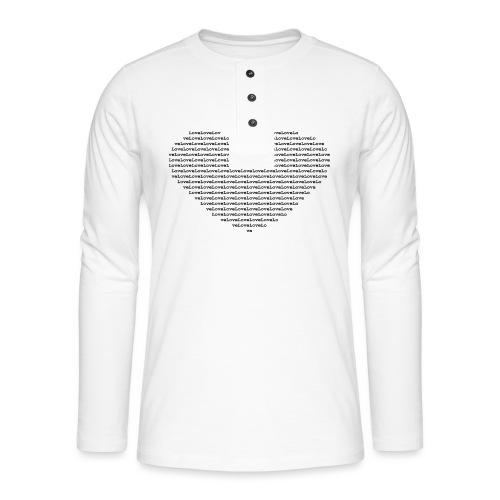 Isle of black Ascii Heart - Henley long-sleeved shirt