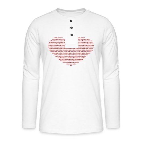 Isle of red Ascii Heart - Henley long-sleeved shirt