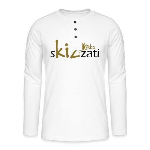 Beanie in jersey con logo sKizzati Kizomba - Verde - Maglia a manica lunga Henley