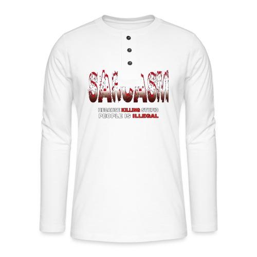 SARCASM - Henley long-sleeved shirt