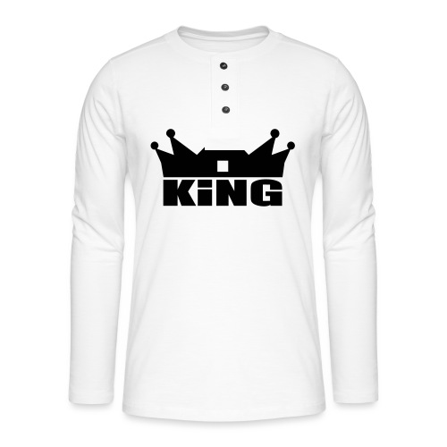 I'm the King - T-shirt manches longues Henley