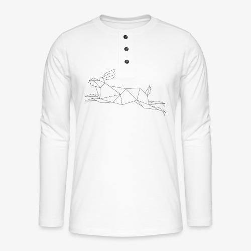 Hase geometrie, Tier geometrisch - Henley Langarmshirt