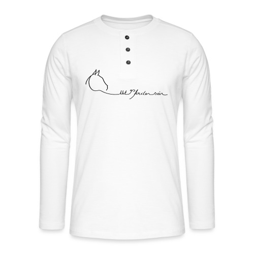 MPS Logoschriftzug gr offizieller Logoschriftzug - Henley Langarmshirt