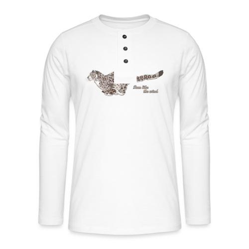 Snow Leopard: Run Like the Wind - Koszulka henley z długim rękawem