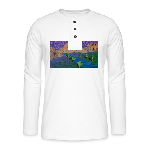 Silent river - Henley long-sleeved shirt