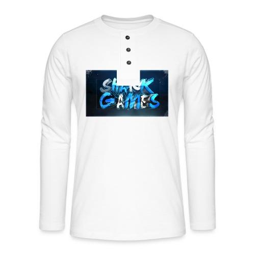 SharkGames - Maglia a manica lunga Henley