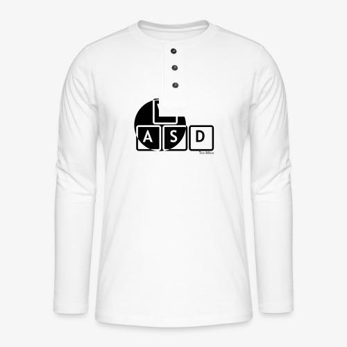 WASD Gaming is Life - Henley long-sleeved shirt