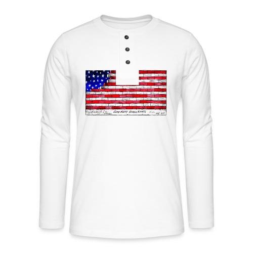 Good Night Human Rights - Henley long-sleeved shirt