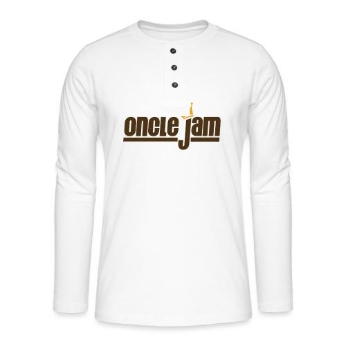 Oncle Jam horizontal brun - T-shirt manches longues Henley