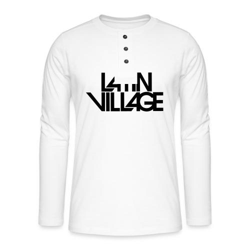 Logo Latin Village 30 - Henley shirt met lange mouwen