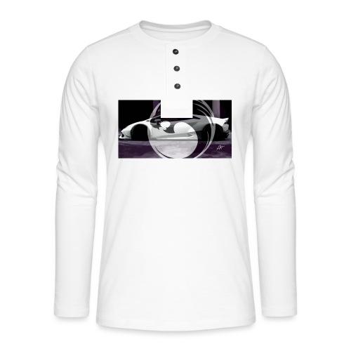 lion black lyon design - Henley long-sleeved shirt