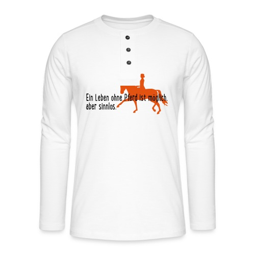 Pferd - Henley Langarmshirt