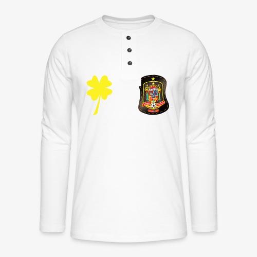 Trébol de la suerte CEsp - Camiseta panadera de manga larga Henley