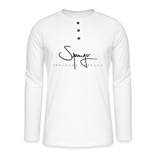 Logo Springer Guitars - T-shirt manches longues Henley
