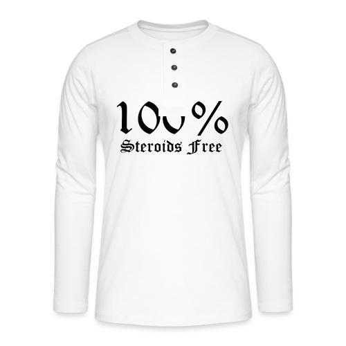 100% bez sterydów - Koszulka henley z długim rękawem