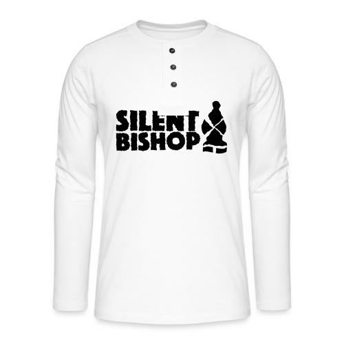 Silent Bishop Logo Groot - Henley shirt met lange mouwen