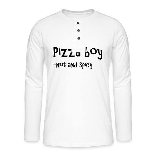 Pizza boy - Henley langermet T-skjorte