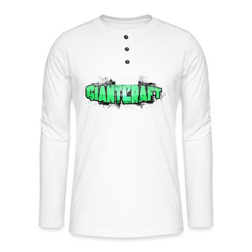 Vandflaske - GiantCraft - Henley T-shirt med lange ærmer