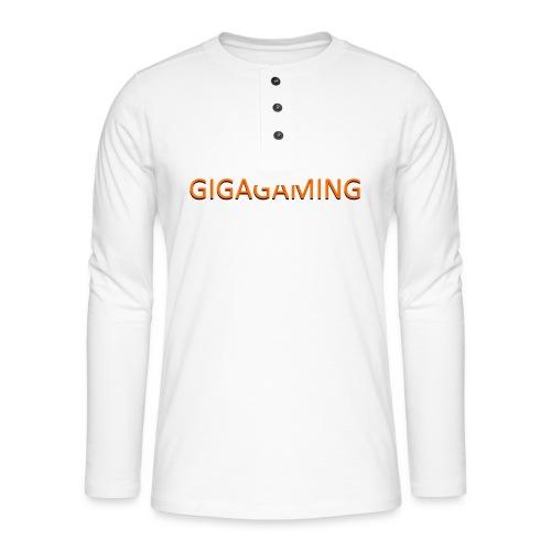 GIGAGAMING - Henley T-shirt med lange ærmer