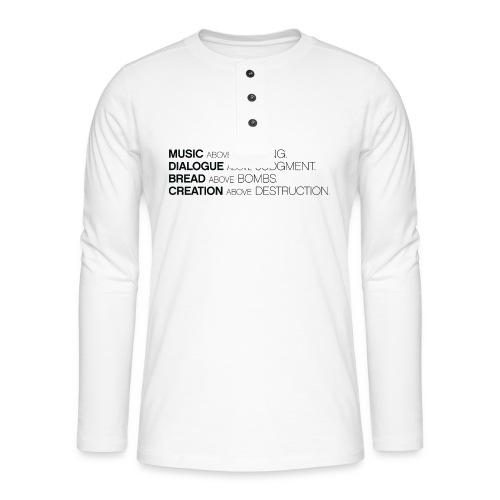slogan png - Henley shirt met lange mouwen
