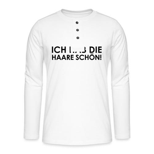Weltkanzlerin® Frauen Premium T-Shirt - Henley Langarmshirt