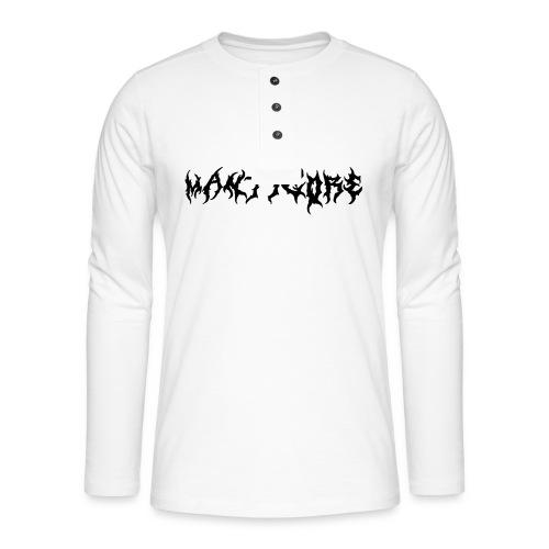 Mantigore Logo Black - Henley Langarmshirt
