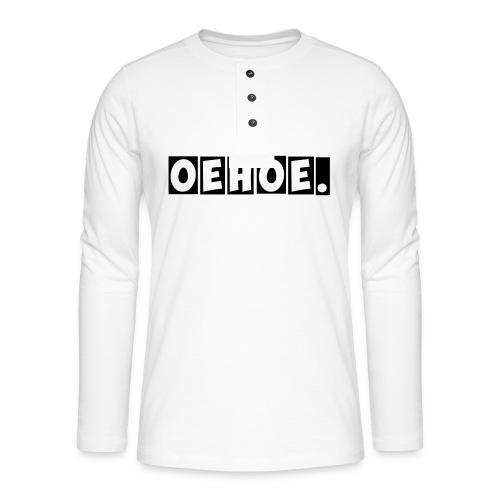 Oehoe_1_kleur - Henley shirt met lange mouwen
