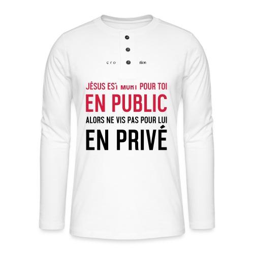 Public ou privé - T-shirt manches longues Henley
