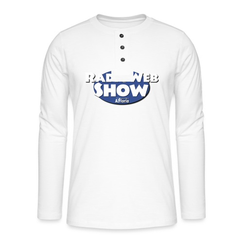 Logo RadioWebShow - Maglia a manica lunga Henley