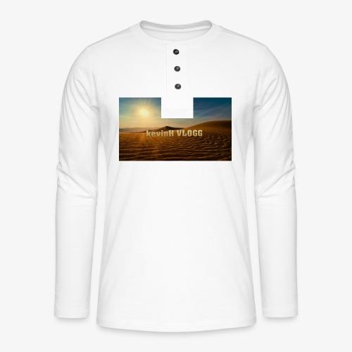 vlogg logo 123 - Henley langermet T-skjorte