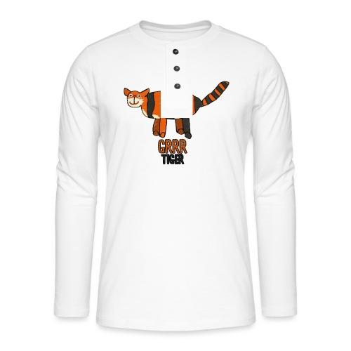 Tijger, Grrr - Henley shirt met lange mouwen