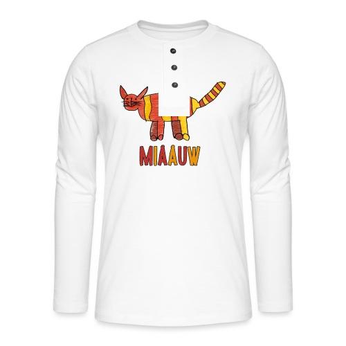 miaauw poesje - Henley shirt met lange mouwen