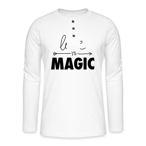 El Amor es Mágico - Camiseta panadera de manga larga Henley