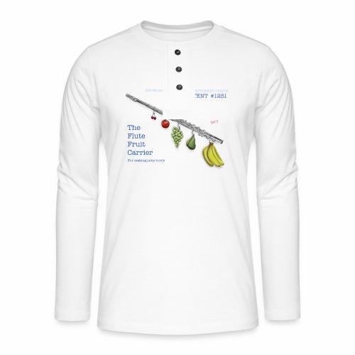 Experimental Musical Instruments - Flute Fruit - Henley long-sleeved shirt