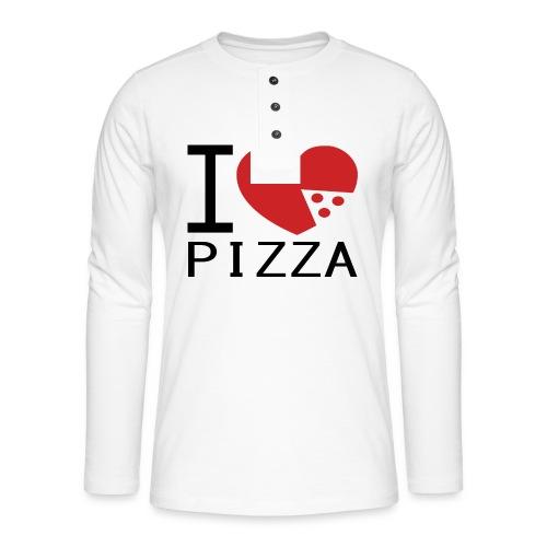 Yo Amo la Pizza - Camiseta panadera de manga larga Henley