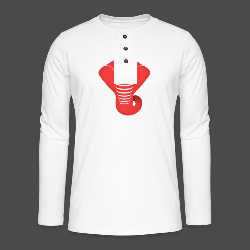 Just Some Bass snake png - Henley long-sleeved shirt