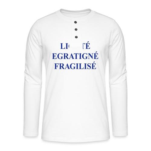 liberté, égalité… - T-shirt manches longues Henley