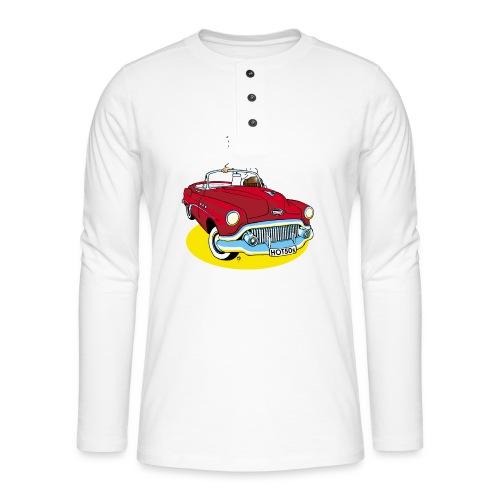 Herr Bohnemann im Buick - Henley Langarmshirt