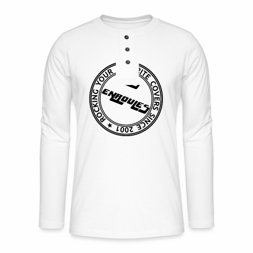 Badge - T-shirt manches longues Henley