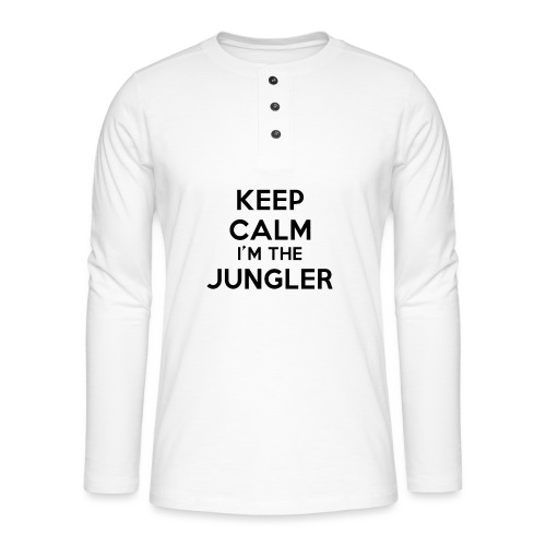 Keep calm I'm the Jungler - T-shirt manches longues Henley