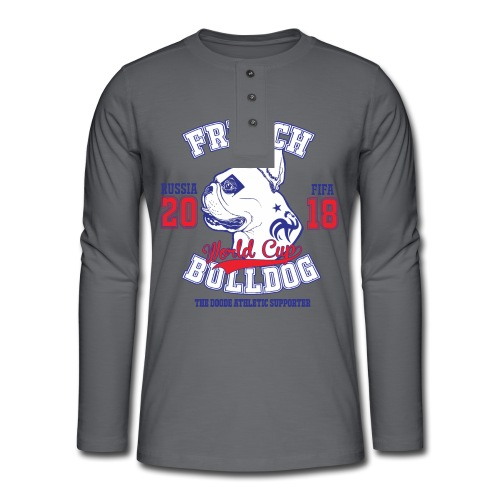 World Cup 2018 French Bulldog supporters - T-shirt manches longues Henley