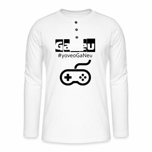 GaNeu - Camiseta panadera de manga larga Henley