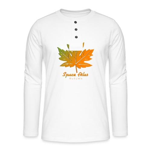Space Atlas Long Sleeve T-shirt Autumn Leaves - Henley T-shirt med lange ærmer