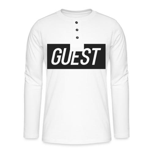 G-rectangle (grey) - Henley long-sleeved shirt