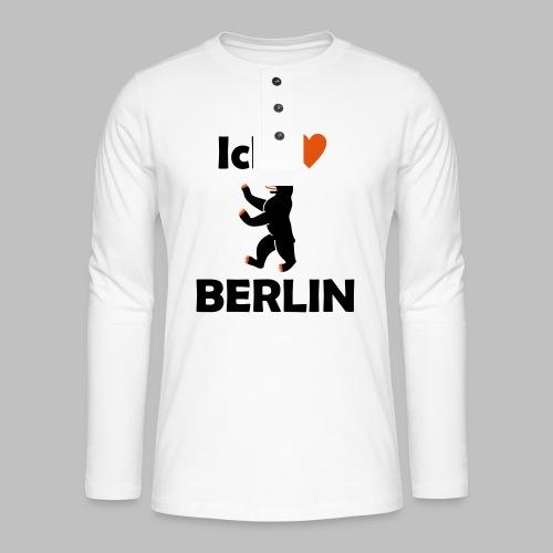 Ick liebe ❤ Berlin - Henley Langarmshirt